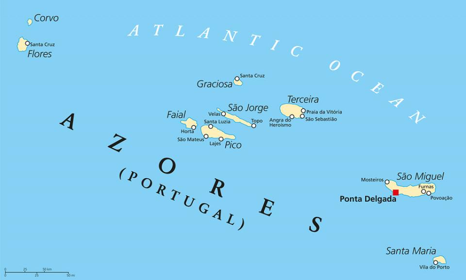 Azoren Karte Portugal.Azoren Karte Ein Blick Auf Die Weltkarte Wo Liegen Die Azoren